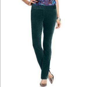 LOFT Marisa Emerald green velvet pants